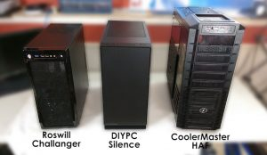 computer case compare roswill challanger cooler master HAF