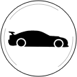 race car circle logo
