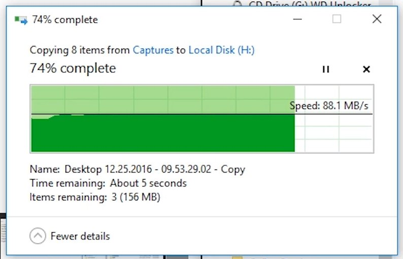 transfer speed dual dock hdd