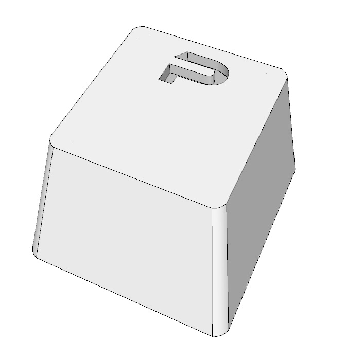 3d rendering in sketchup of keycap
