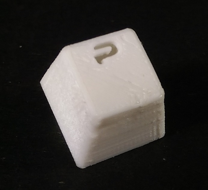 closeup of final quality keycap
