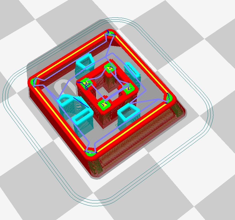 3d rendering of interior support of keycap
