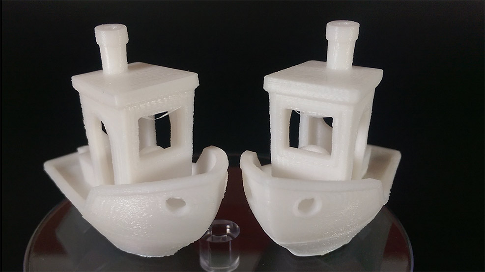 Side by side benchy results