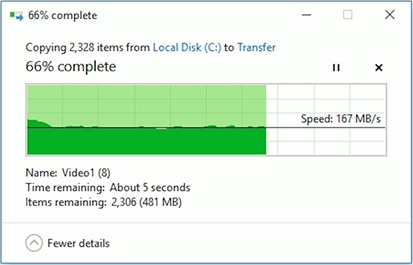 transfer speeds of ssd
